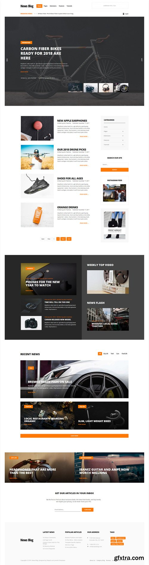 Shape5 - News Blog v1.0.3 - Joomla Template