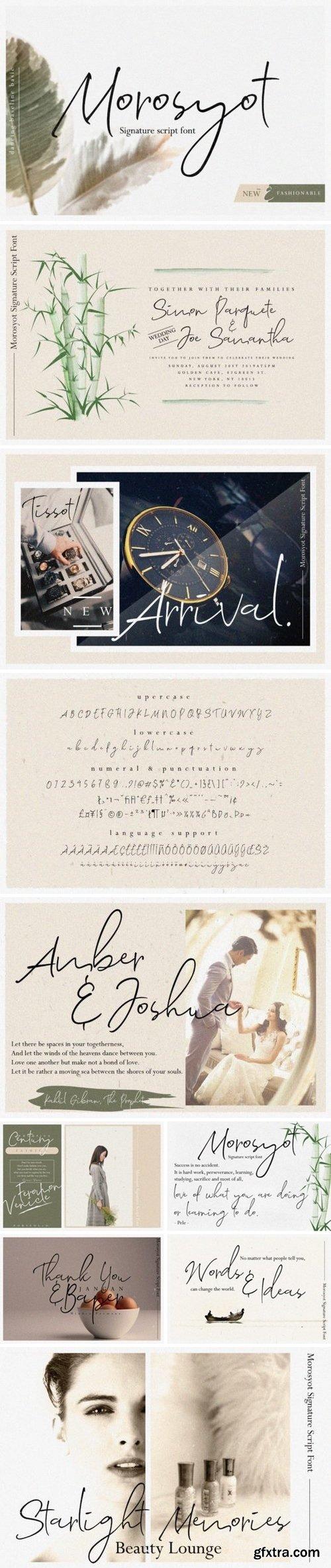 CM - Morosyot Signature Script Font 3401665