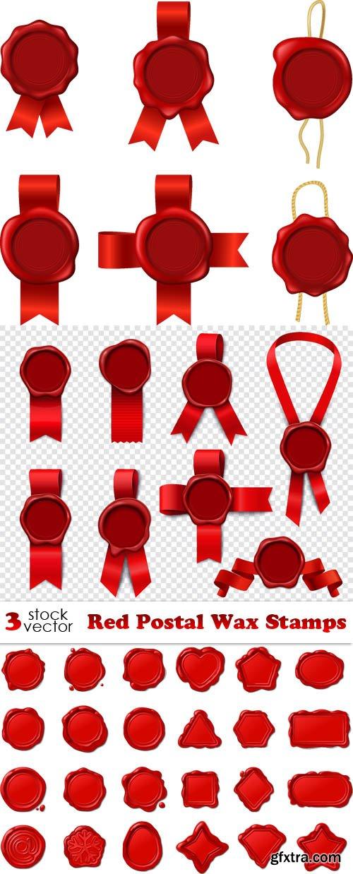 Vectors - Red Postal Wax Stamps