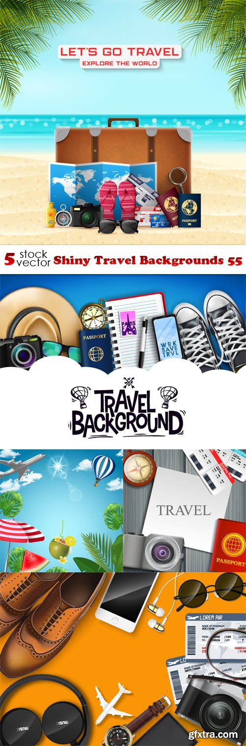 Vectors - Shiny Travel Backgrounds 55