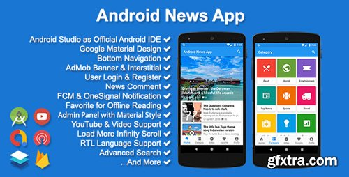CodeCanyon - Android News App v3.2.0 - 10771397 - NULLED