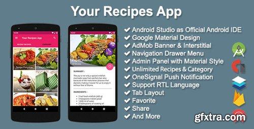 CodeCanyon - Your Recipes App v2.5.0 - 13041482