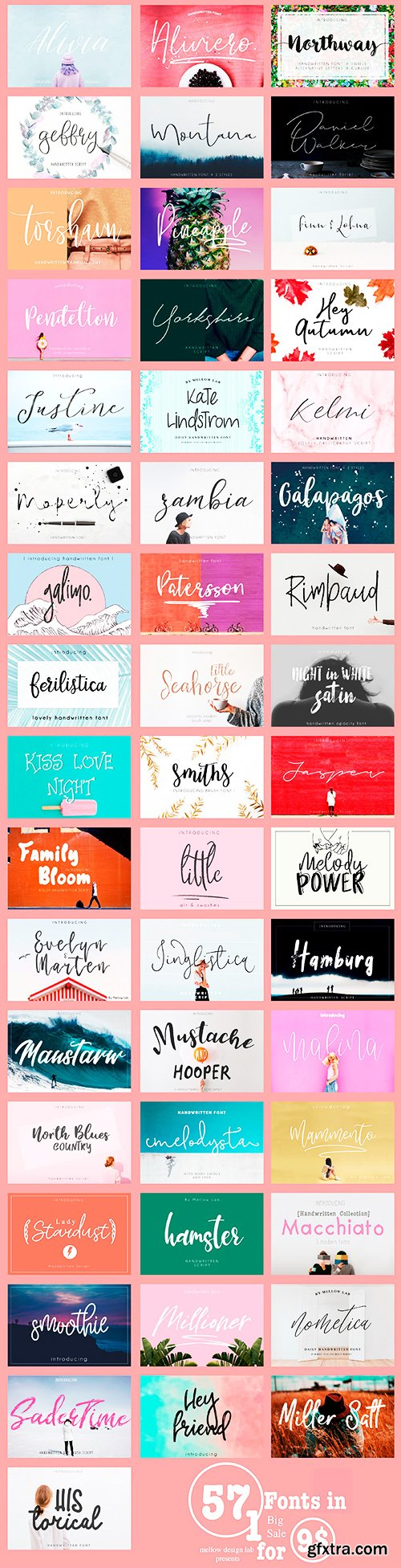 MightyDeals 57 Premium Fonts from Mellow Design Lab