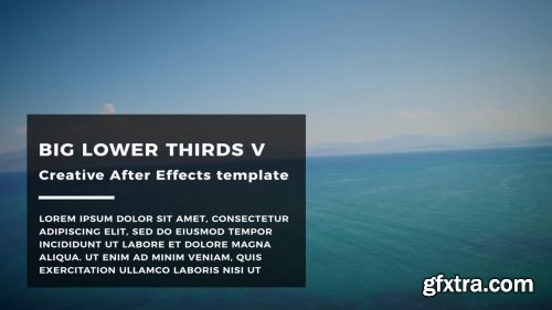 Big Lower Thirds V - After Effects 147108