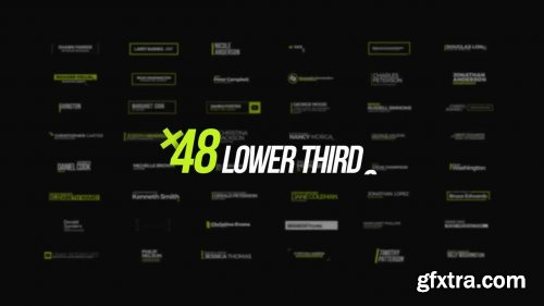+48 Lower Thirds - After Effects 146962
