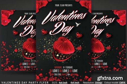 CreativeMarket - Valentines Day Party Flyer 3359020