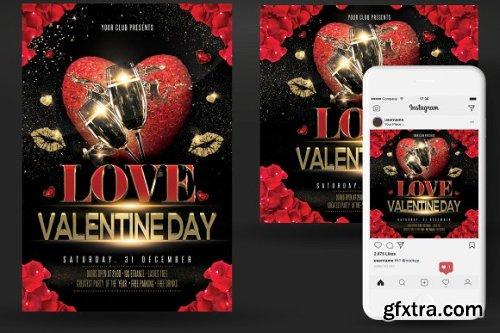 CreativeMarket - Valentines Day Party Flyer 3349483
