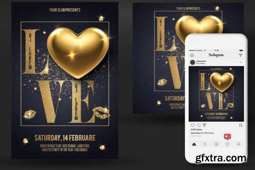 CreativeMarket - Valentines Day Party Flyer 3349679