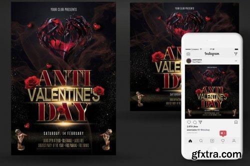 CreativeMarket - Anti Valentines Day Flyer 3349832