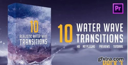 Water Wave Transitions Pack 3 - Premiere Pro Templates 162673