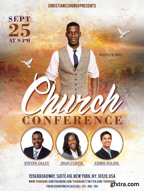 CreativeMarket - Church Conference Flyer Poster 3370849