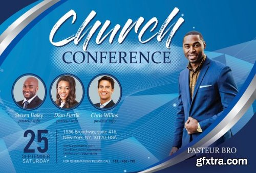 CreativeMarket - Church Conference Flyer 3363167