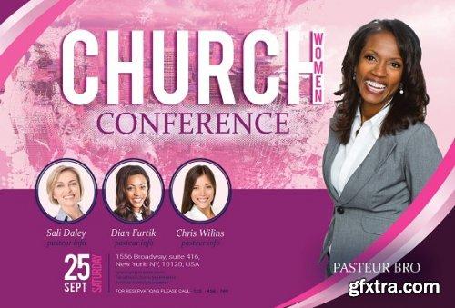 CreativeMarket - Church Women Conference Flyer Poster 3363592