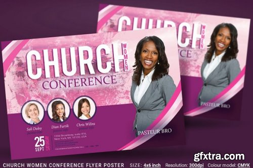 CreativeMarket - Church Women Conference Flyer Poster 3363592