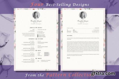 CreativeMarket - Resume CV Pattern Bundle 3335518