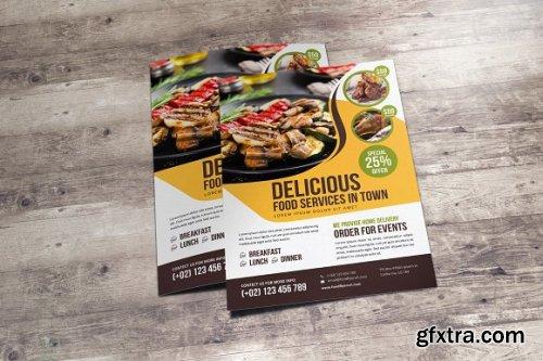 CreativeMarket - Food Restaurant Flyer Design v2 3369163