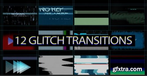 Glitch Transitions MOGRTs 163270