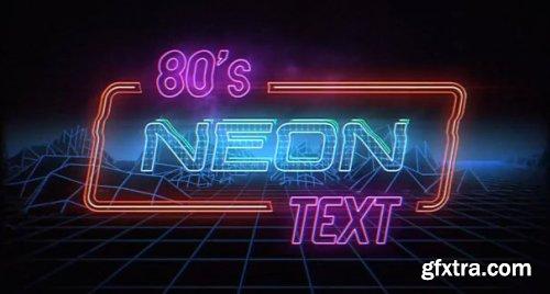 Retro Neon Text 165713