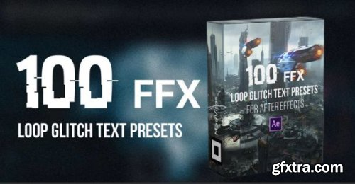 100 Loop Glitch Text Presets - After Effects 158751