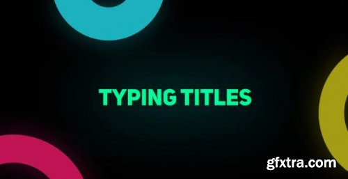 Typing Titles - After Effects 161277