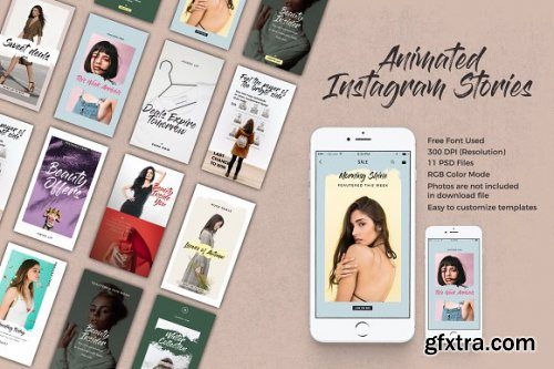 CreativeMarket - Fragrant Animated Instagram Stories 3361330