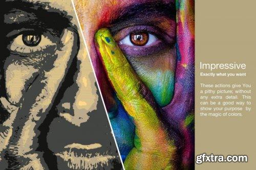 Neo chromatic Pop Art Photoshop Action