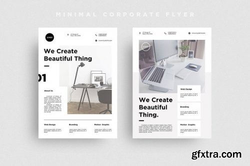 CreativeMarket - Minimal Corporate Flyer 3314041