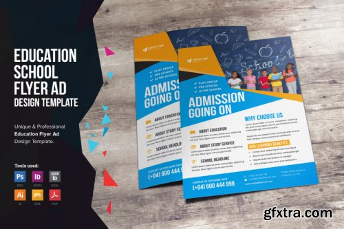 CreativeMarket - Education School Flyer Design 3368839