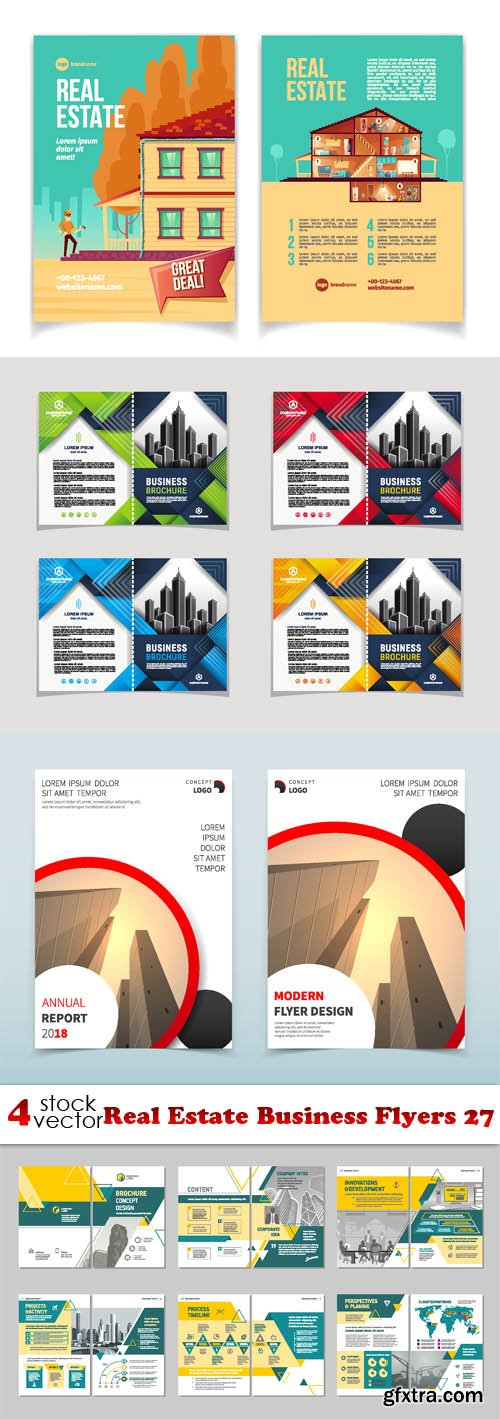 Vectors - Real Estate Business Flyers 27