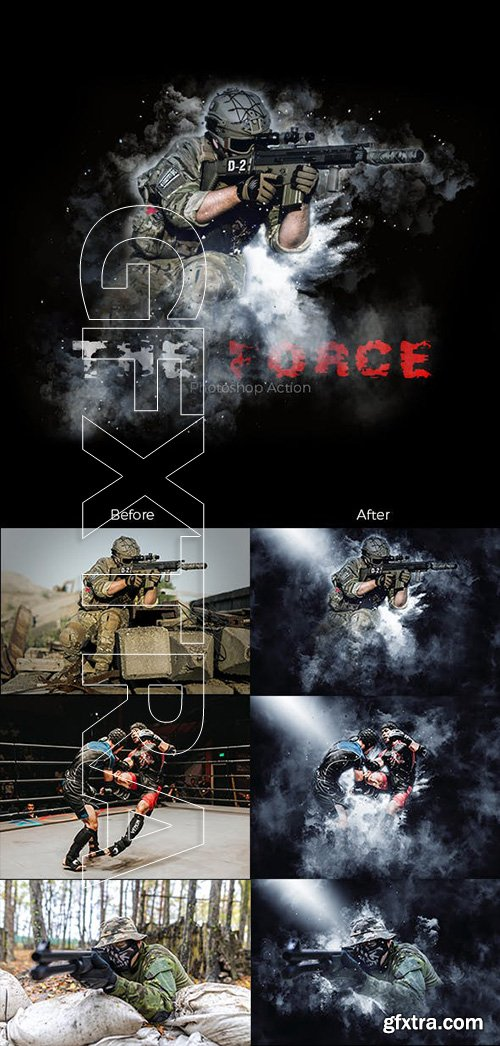 GraphicRiver - The Force Photoshop Action (Smoke Dust & Mist) 23166343