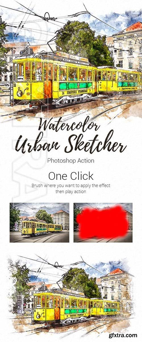 GraphicRiver - Realistic Urban Sketcher Photoshop Action 23175837