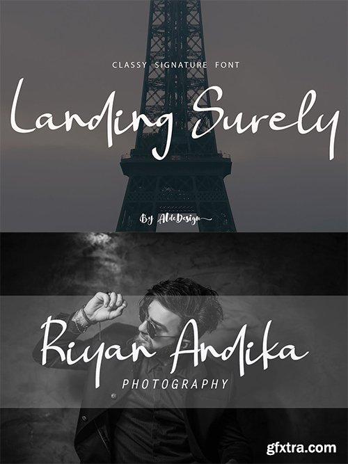 Landing Surely Font