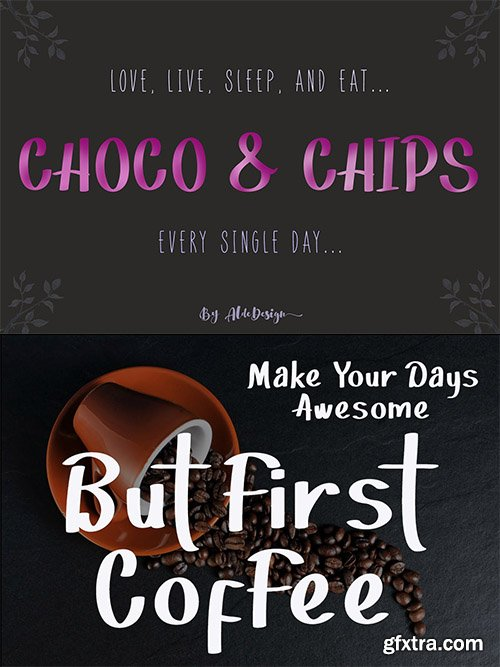 Choco & Chips - Beautiful Various Script