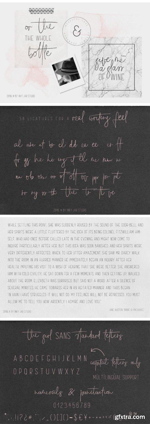 Fontbundles - The Girl Font Duo 12 Instagram Post Temlates 132825