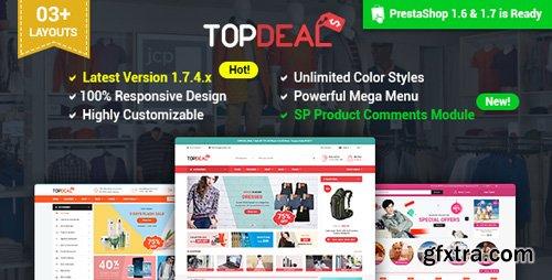 ThemeForest - TopDeal v2.1.0 - Multipurpose Responsive PrestaShop 1.6 & 1.7 Theme - 19632422