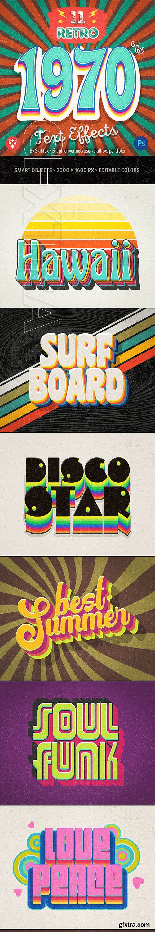 GraphicRiver - 11 70\'s Retro Text Effects 23203116