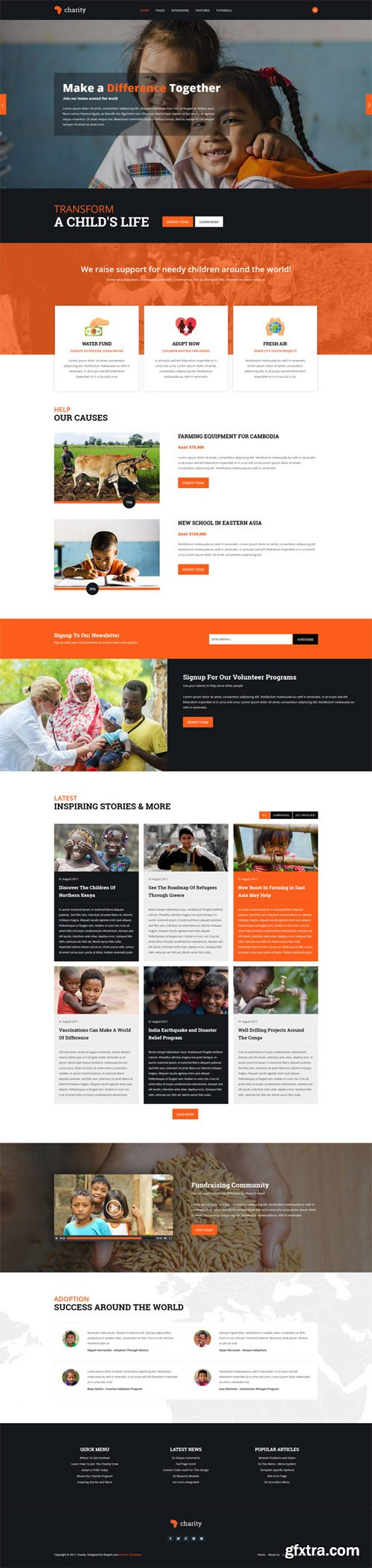 Shape5 - Charity v1.0.3 - Joomla Template