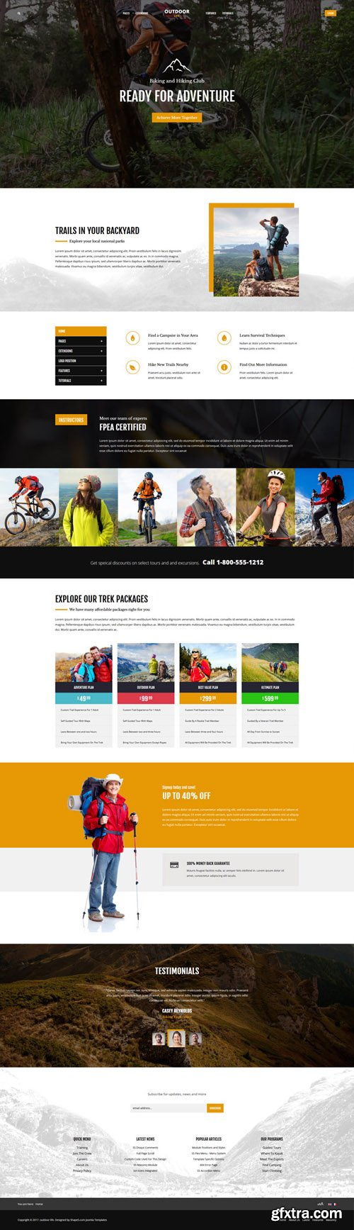 Shape5 - Outdoor Life v1.0.3 - Joomla Template