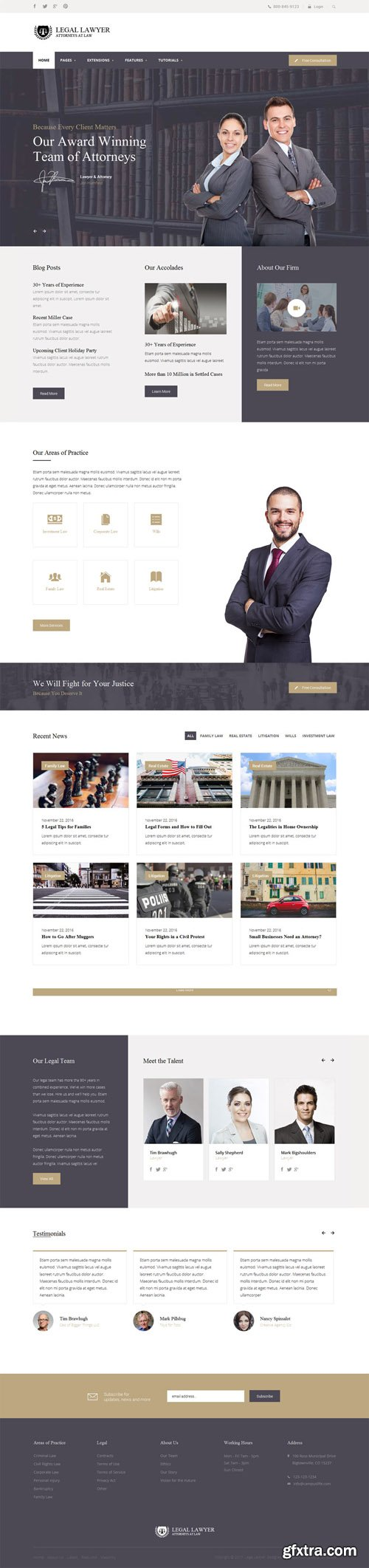 Shape5 - Legal Lawyer v1.0.3 - Joomla Template