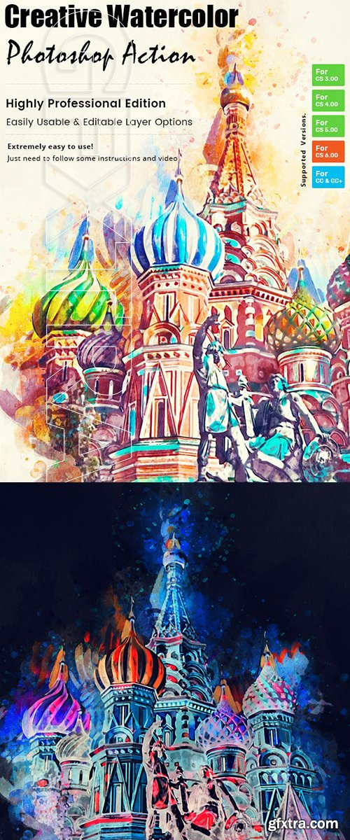 GraphicRiver - Creative Watercolor Paint Action 23224470