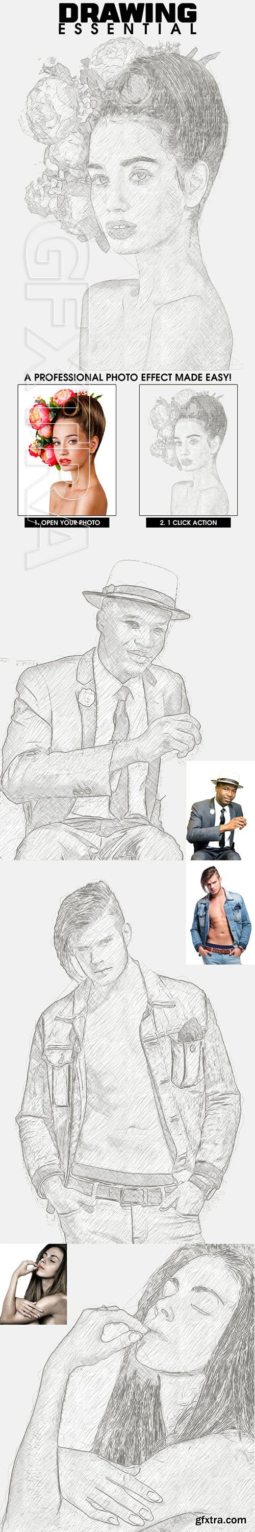 GraphicRiver - Drawing Essential Photoshop Action 23112000