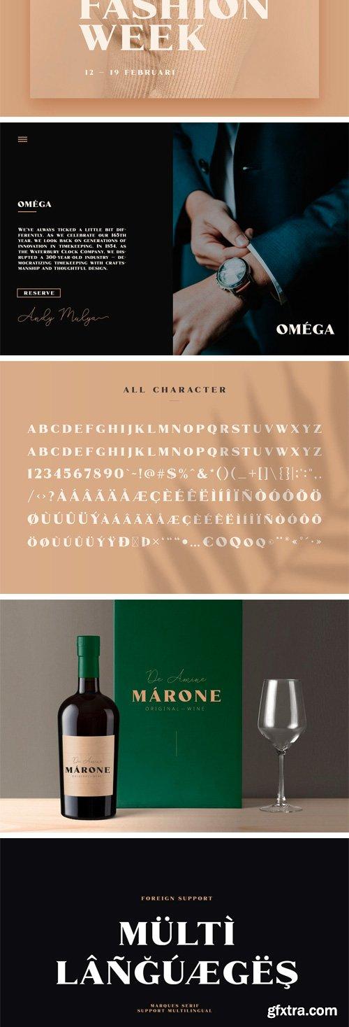 CM - Marques - Modern Serif Font Family 3427697