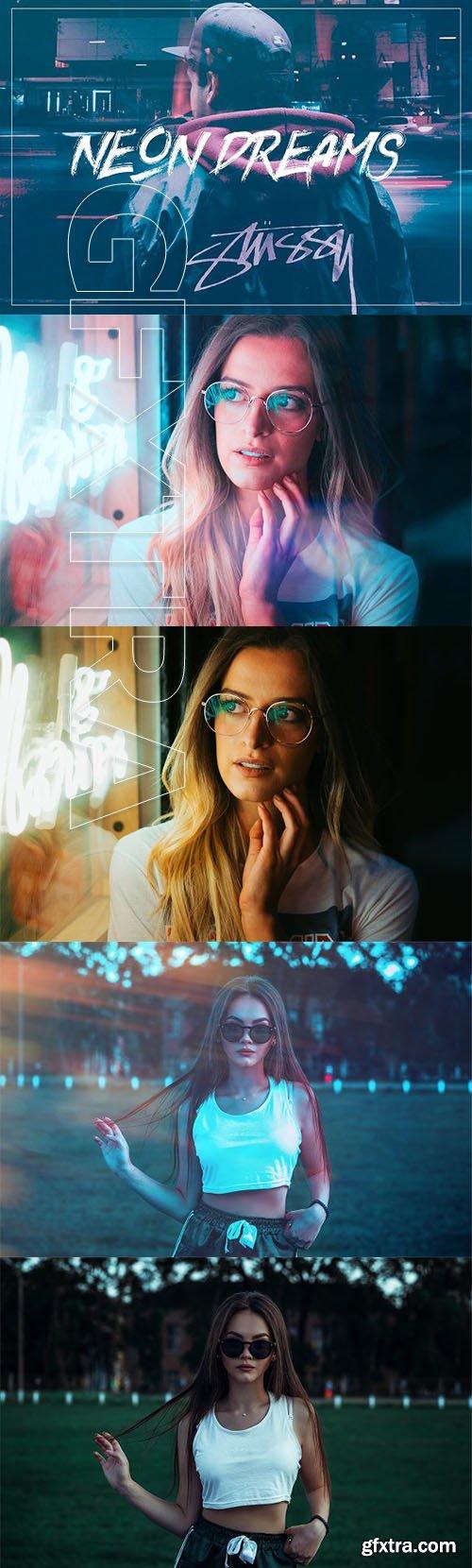 CreativeMarket - Neon Dreams Photoshop Action 3396891