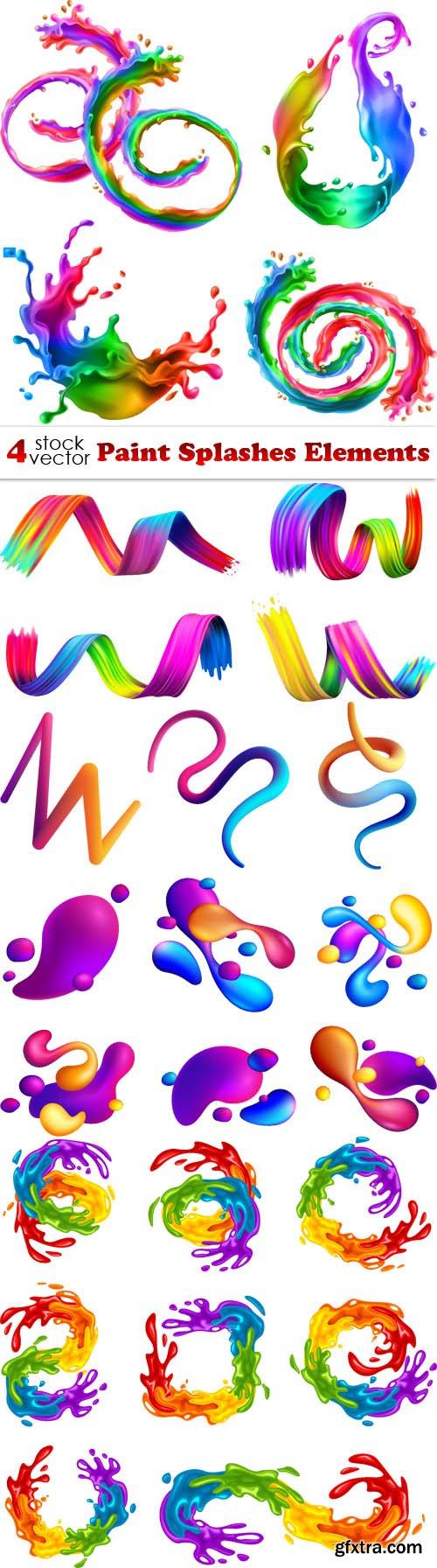 Vectors - Paint Splashes Elements