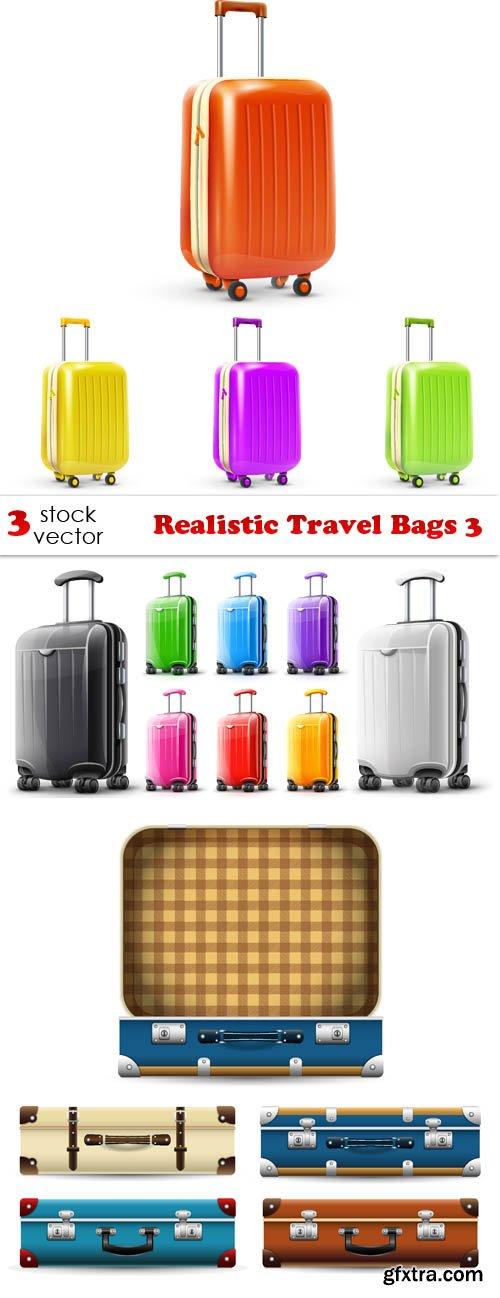 Vectors - Realistic Travel Bags 3