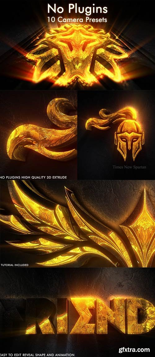 Videohive - Shining Gold Cinematic Logo and Titles Epic Reveal - 22879902