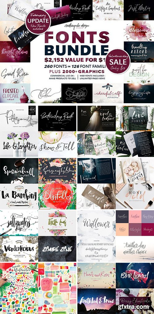 CM - 126 Fonts Bundle 1778651
