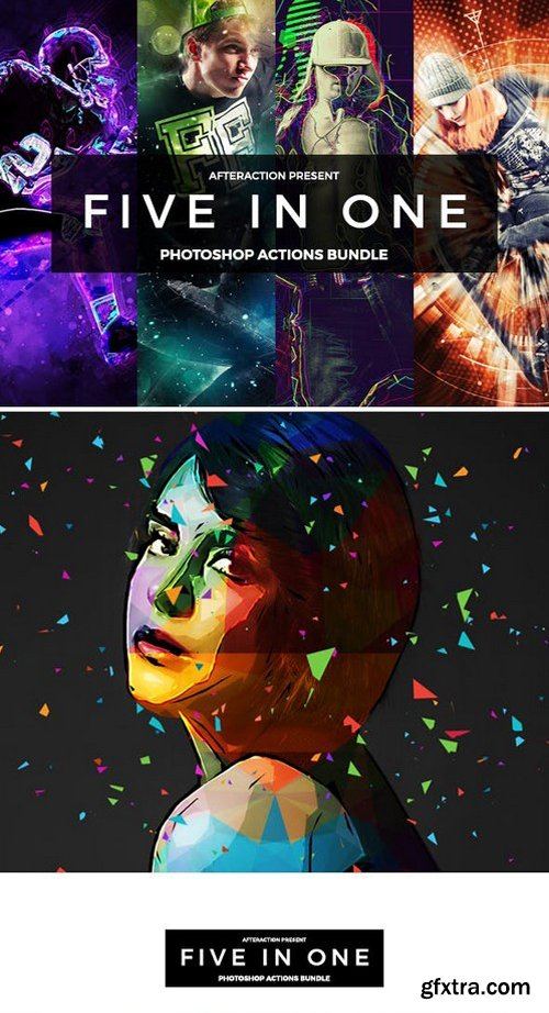 GR - Five in 1 Photoshop Actions Bundle 21190968