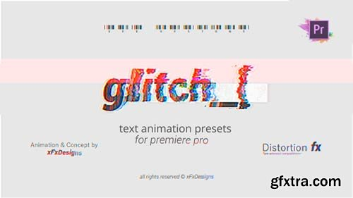 Videohive - Project-x Glitch 30 Text Presets | Mogrt - 23222524