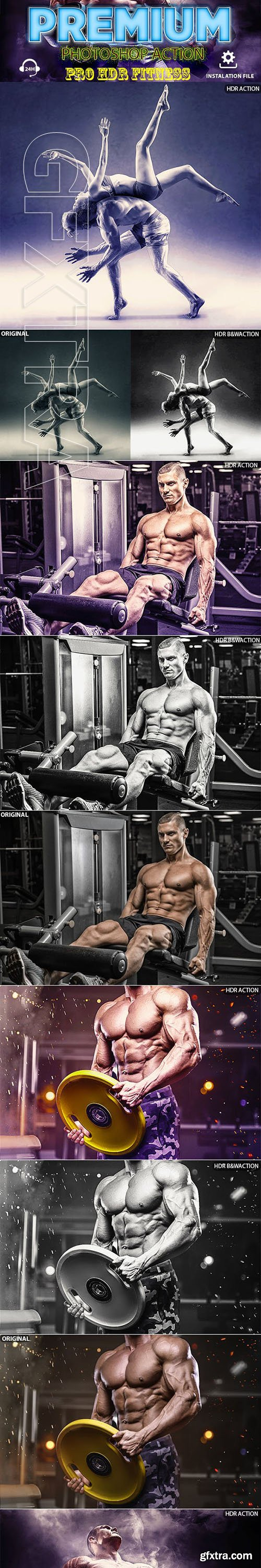 GraphicRiver - Fitness HDR Photoshop Action 23155601